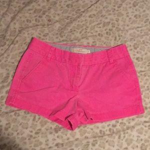 J.Crew Hot pink Chino shorts
